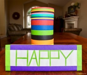 colored masking tape holiday wrapping paper